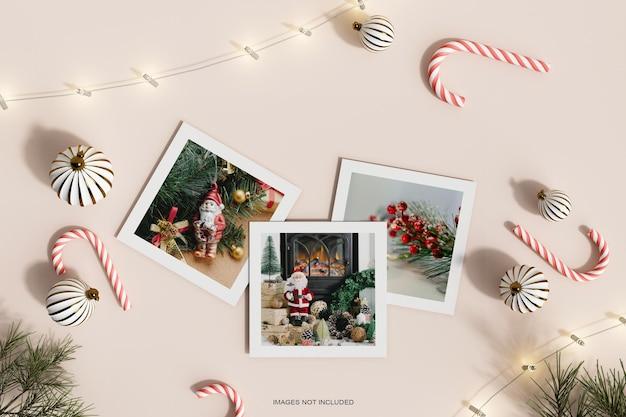 Рождественские бумажные рамки фото макет