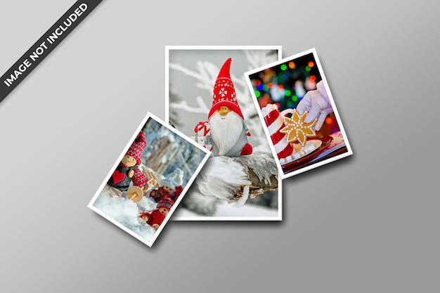 Christmas photo frame mockup psd