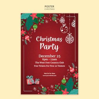 Рождественский плакат концепция