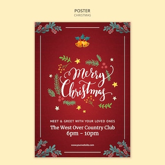Christmas poster template theme