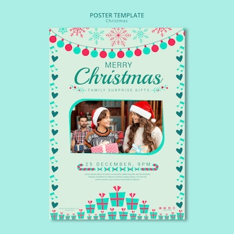 Christmas poster template with image