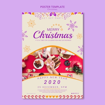 Christmas poster template with picture