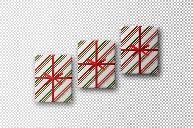 Christmas present boxes mockup