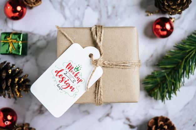 Christmas present tag psd