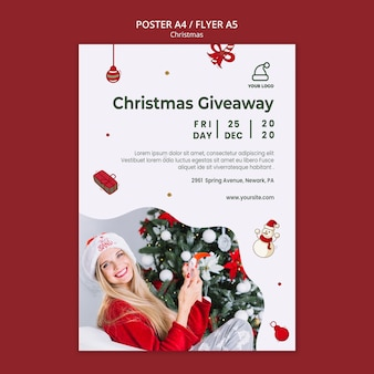 Christmas presents shop template poster