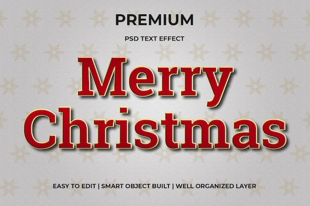 Christmas red and gold text effect