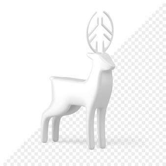 Christmas reindeer 3d icon