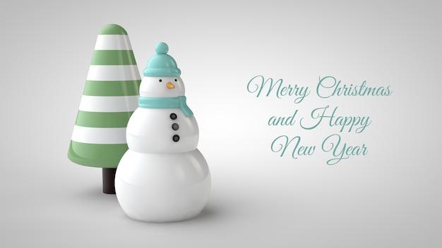 Christmas sale banner mockup in 3d illustration