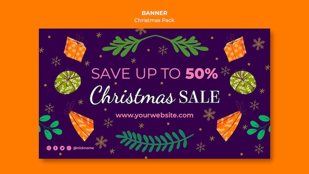 Christmas sale banner with special offers