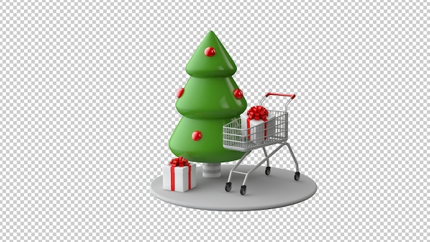 Christmas sale concept in 3d illustration