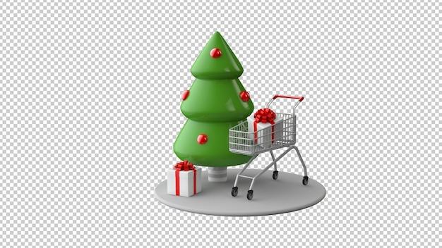 Рождественские продажи концепция в 3d иллюстрации