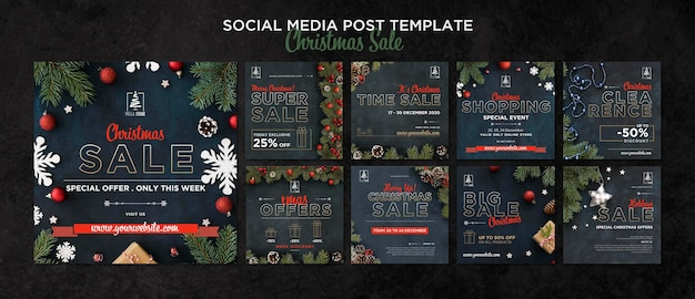 Christmas sale concept template