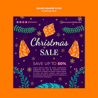 Christmas sale flyer with special offers