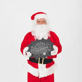 Christmas sale mockup with santa