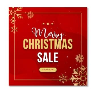 Рождественская распродажа в социальных сетях instagram post template