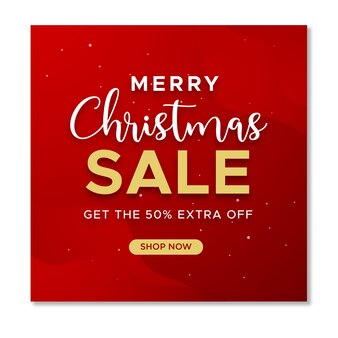 Christmas sale social media instagram post template