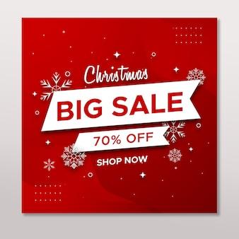 Christmas sale social media instagram post