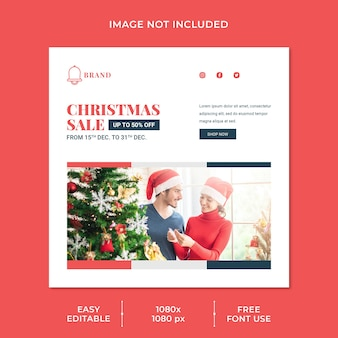 Christmas sale social media template