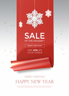 Christmas sale vertical banner or poster template