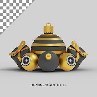 Рождественские сцены и орнамент 3d визуализации