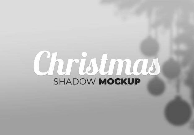 Christmas shadow mockup of ball and tree