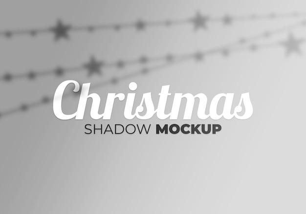 Christmas shadow mockup of light and star