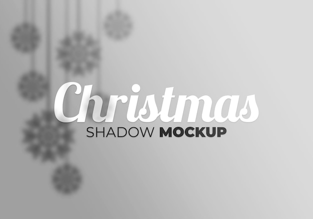 Christmas shadow mockup of snowfall