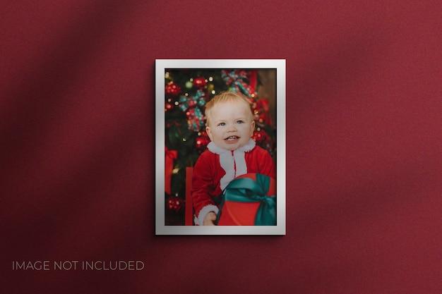 Рождественские шаблоны снимков фоторамка мокап