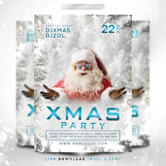 Christmas snowfall party premium
