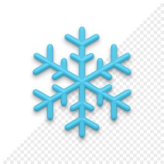 Рождественские снежинки 3d значок