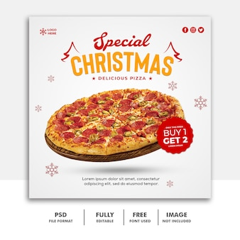 クリスマスソーシャルメディア投稿バナーテンプレート