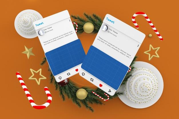 Christmas social media post mockup