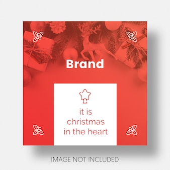 Christmas social media post template instagram