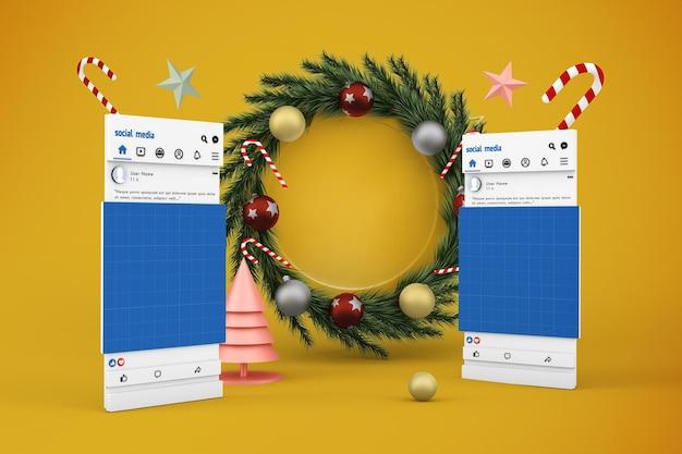 クリスマスソーシャルメディアv1