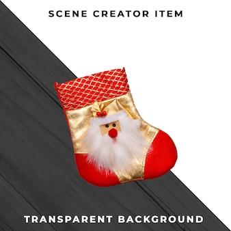 Рождественские носки, изолированные с обтравочный контур.