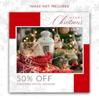 Christmas special discount offer  template for social media