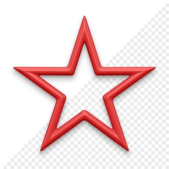 Рождественская звезда 3d значок