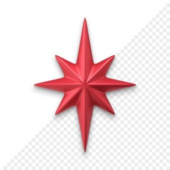 Christmas star 3d icon
