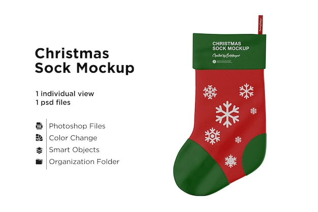 Christmas stocking mockup