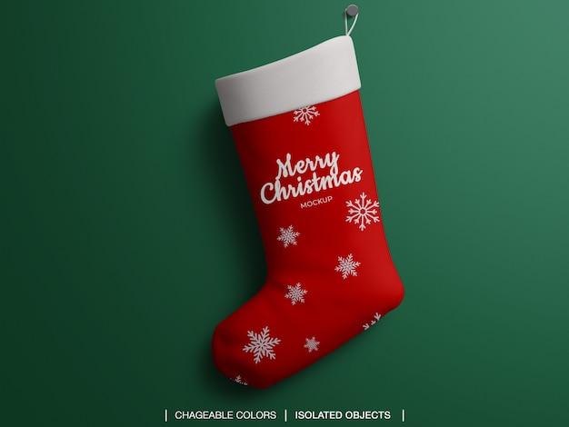クリスマスの靴下のモックアップ