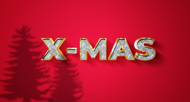 Christmas text effect template