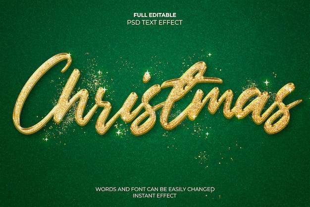 Effetto testo natalizio