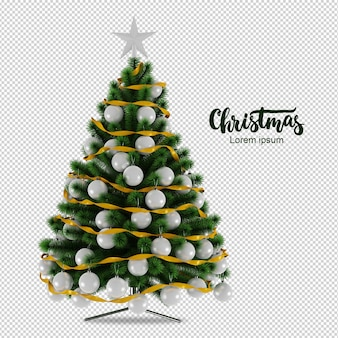 Christmas tree in 3d rendered
