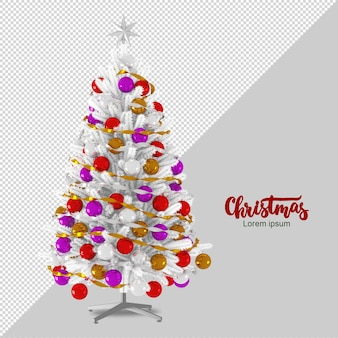 Christmas tree in 3d rendered