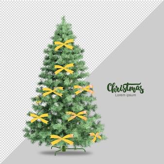 3d 렌더링 격리 된 크리스마스 트리