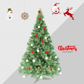 Рождественская елка в 3d визуализации изолированной