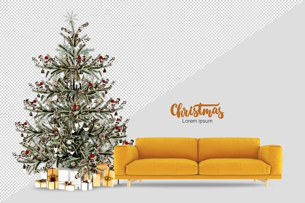 Рождественская елка в 3d визуализации