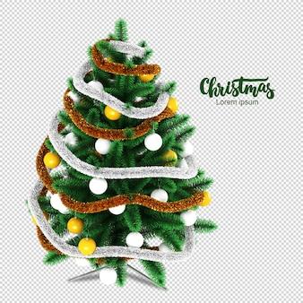 고립 된 3d 렌더링에 크리스마스 트리