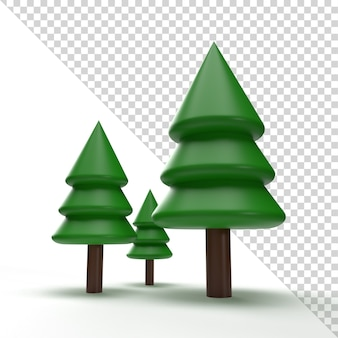 Christmas tree isolated in 3d rendering