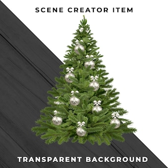 Christmas tree isolated with clipping path.